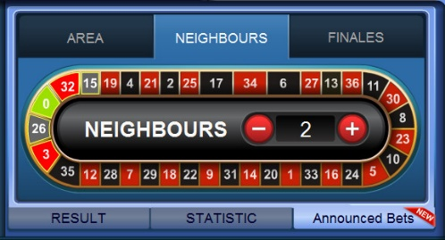 Roulette Neighbours Bet 2